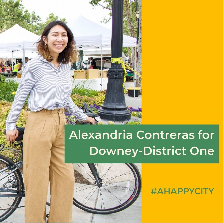 Alexandria's campaign photo.  She is the only challenger for district one.