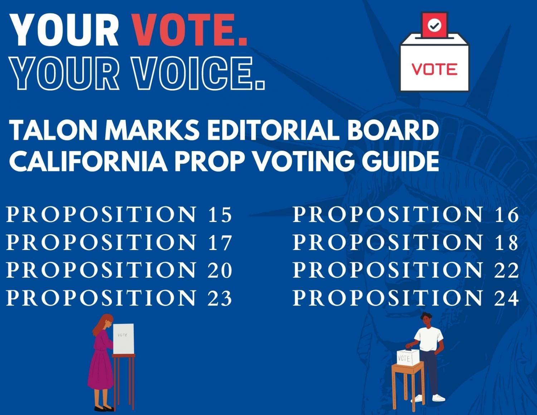 Talon Marks 2020 Proposition Voting Guide