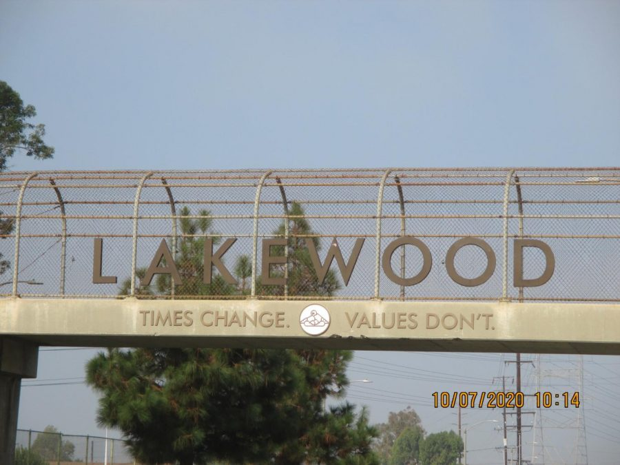 The City of Lakewood displays the City motto