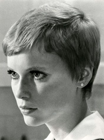 Mia Farrow in as the titular character in Rosemary's Baby.