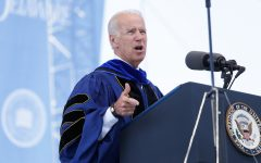 Joe Biden is currently running for the 2020 Presidential election. Biden's pick for VP is Senator Kamala Harris. Photo credit: The Review Univ. of Delaware on Flickr.com