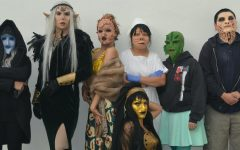 Students from the college's costume and makeup program transform themselves into elaborate, imaginary creatures using special effects makeup.  Professor Susan Watanabe, who teaches the program, shares this photo from a previous class taught on campus. Photo credit: Susan Watanabe