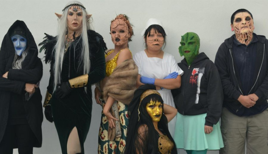 Students+from+the+college%27s+costume+and+makeup+program+transform+themselves+into+elaborate%2C+imaginary+creatures+using+special+effects+makeup.++Professor+Susan+Watanabe%2C+who+teaches+the+program%2C+shares+this+photo+from+a+previous+class+taught+on+campus.