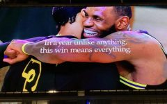 Nike billboard celebrating the Lakers NBA finals win. Located on Figueroa St across from Staples Center Photo credit: Eileen Osuna