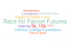Race for Falcon Futures is a virtual marathon to help raise money for Cerritos College Foundation's Student Relief Fund. Participants can donate and run a 5k, 10k, or half marathon. Photo credit: Vincent Medina