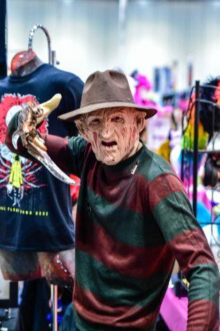Freddy Krueger cosplay at MCM London Comic Con 2015.