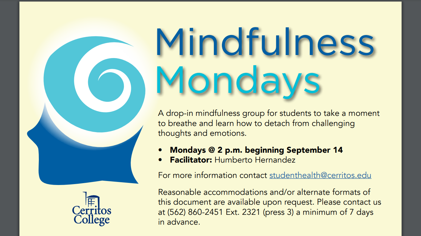 Let your mind flow with Mindfulness Monday
