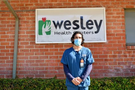 Francisco Arenas is a registered nurse, and Cerritos College alumnus, at Wesley Health Center in Bell Gardens. He commented on Coronavirus cases and a potential vaccine on Nov.10. Photo credit: Vincent Medina