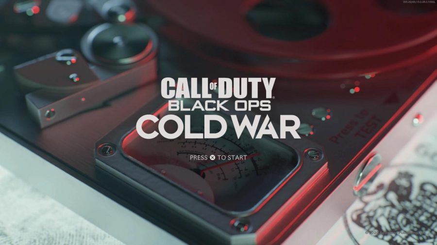 This is the Black Ops Cold War launch screen. This is the very first thing players see when booting up the game. Photo credit: Image from Activision/Treyarch