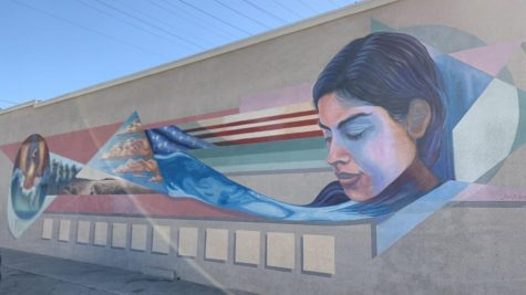 """12 Steps"" mural by artist Jose Loza at the  ""Intercity Fellowship Hall"". Located at 5589 Cherry Ave Long Beach, CA 90805. Dec. 01, 2020 Photo credit: Eileen Osuna"