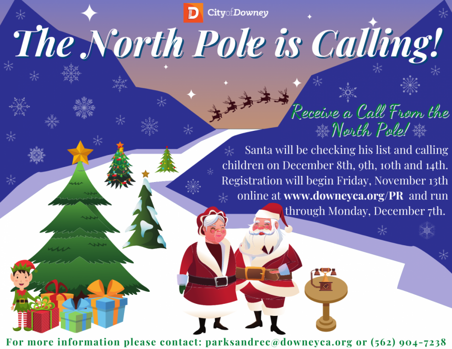 Kids can receive a phone call from Santa to tell him Christmas wishes.