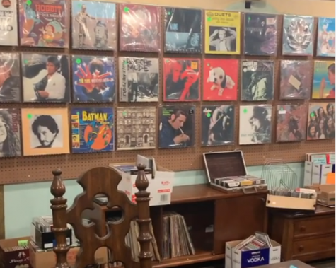 A look at some of the records on display.