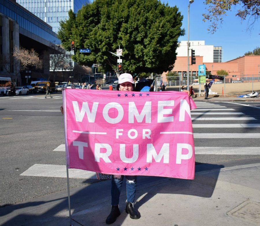 "Despite an infamous video of President Trump bragging about grabbing women by their genitals, some women passionately support the president. They waved flags at the ""Stop the Steal"" rally on Jan. 6."