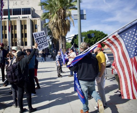 Counter-protesters such as Black Lives Matter engaged with Trump supporters on Jan. 6. Several fights broke out as police declared the protest an unlawful assembly.
