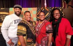 (From left to right) Prof. Damon Cagnolatti, Dr. Shelia Hill, Dr. Chelena Fisher, Ms. Clara Ross-Jones at the 2018 California Umoja Conference.  They continue to lead the program at Cerritos College. Photo credit: Chelena Fisher
