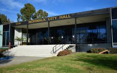 Norwalk City Hall houses most city departments including public safety and community development. The city has reported 18 employees have tested positive for COVID-19. Photo credit: Vincent Medina