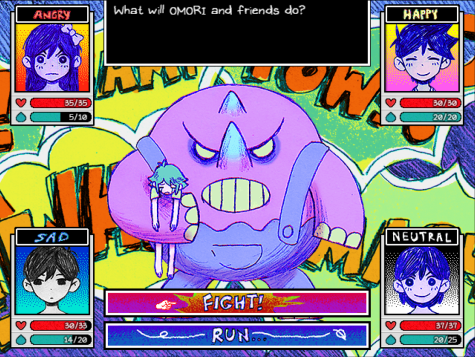 The battle system is turn-based, harkening back to JRPG systems that have been used in games before. In Omori, players emotional states are used in battle to inflict status buffs and debuffs on party members and enemies. Photo credit: Image Credit: OMOCAT, LLC. and PLAYISM