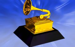 300 dpi 2 col. x 3.25 inches/108x83 mm/368x281 pixels Kurt Strazdins color illustration of a Grammy award. KRT 2001. Companion KRT News in Motion animation and KRTi HotTopics is available on this subject.
