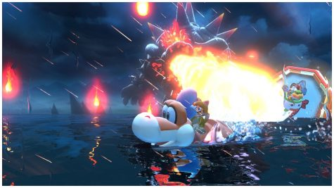 Some parts of Bowser's Fury would be having the player run from Bowser trying desperately not to get hurt by his attacks. Even riding plusie won't stop him from catching up to the player.