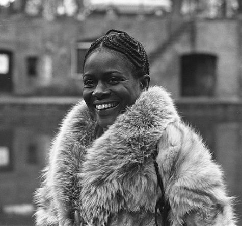 American film star Cicely Tyson during press conference in Utrecht, 1973. Tyson