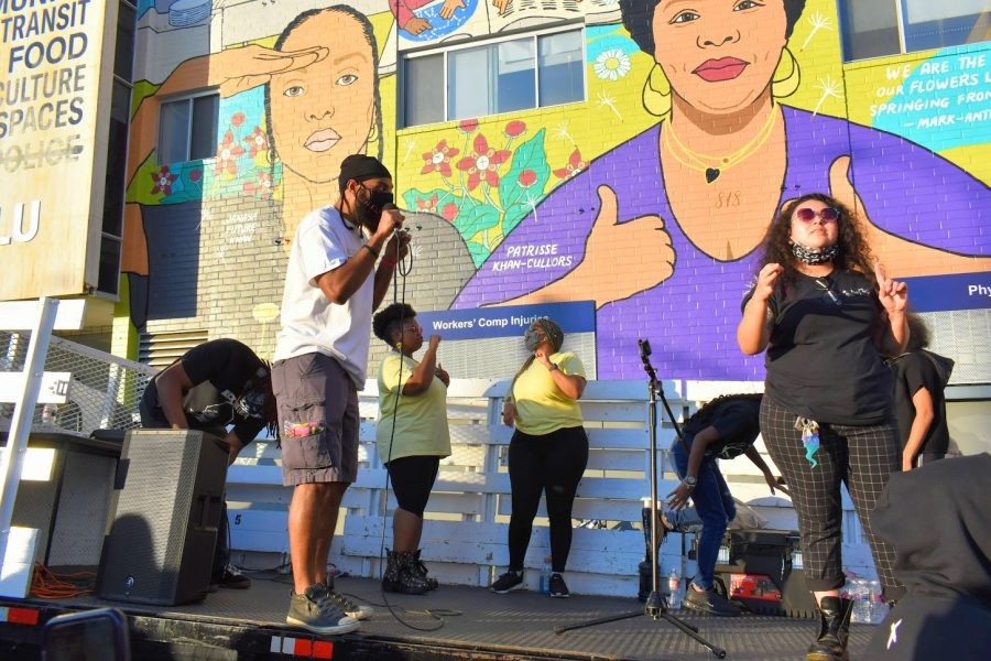 Black Lives Matter supporters and organizers gave passionate speeches during a rally on Feb. 24, 2021. They continued to fight for justice for the victims of police brutality.