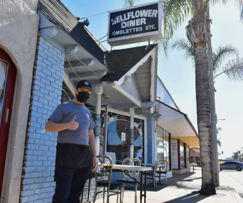 Bellflower Diner co-owner Jonathan Padilla tries to remain optimistic despite his struggling family restaurant. The diner has reopened its outdoor dining since restrictions were lifted on Jan. 29.