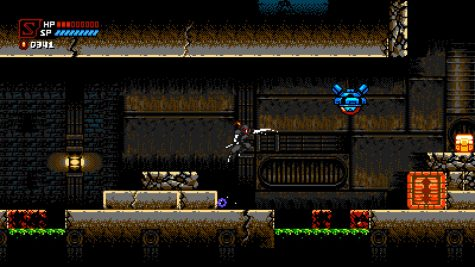 No matter what game it is there is always a sewer type level. Here shadow is about to slash an enemy to get crystal type currency.