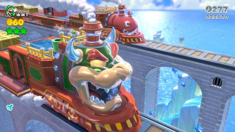 Each Level feels different and refreshing you'll never get tired of any of them. Here is a train level that has a good set-piece that Luigi is enjoying.