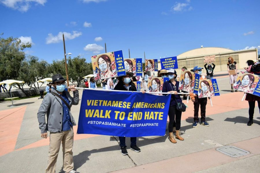 Anti-Asian+hate+demonstrations+were+held+in+Alhambra+and+Irvine+on+March+20%2C+in+response+to+the+rise+in+hate+crimes+and+the+massacre+in+Atlanta%2C+Georgia.