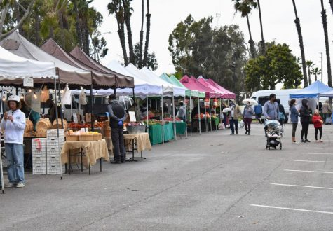 Customers shop at the Local Harvest Farmers Market in Long Beach on March 4, 2021. They supported the vendors and small businesses that sold organic produce. Photo credit: Vincent Medina