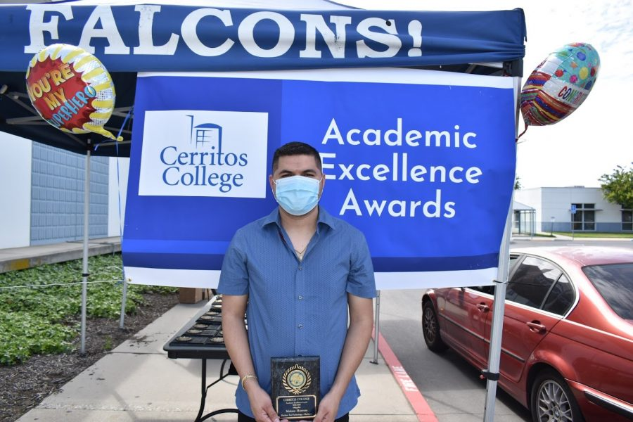 Moises Herrera accepted his award for Academic Excellence on April 5, 2021. He received the award for Machine Tool Technology - Machinist