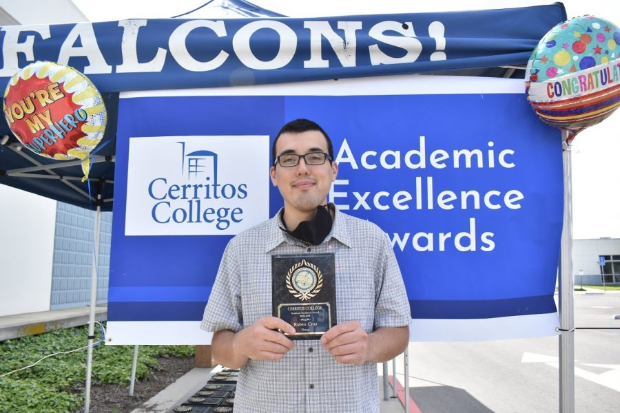 Ruben Cruz accepted his award for Academic Excellence on April 5, 2021. He received the award for History.