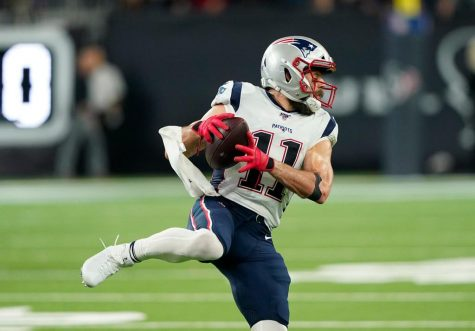 New England Patriots wide receiver Julian Edelman (11) makes a catch against the Houston Texans during the second half of an NFL football game Sunday, Dec. 1, 2019, in Houston. Photo credit: The Providence Journal/TNS