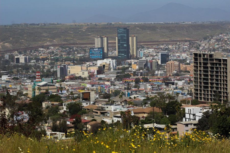A view of the city is not hard to find from the various hills where many live in Tijuana. The growing number of skyscrapers in the city give the skyline a unique view. April 10, 2021.