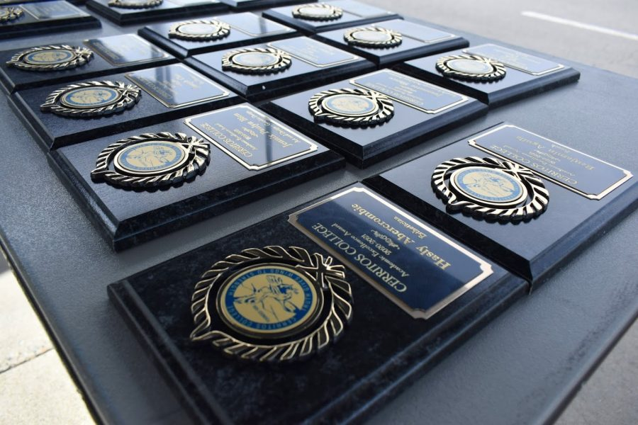 Cerritos College Academic Excellence Awards are given to students on April 5 and April 7, 2021.  Recipients picked up their awards during a drive-thru ceremony in the college parking lot.