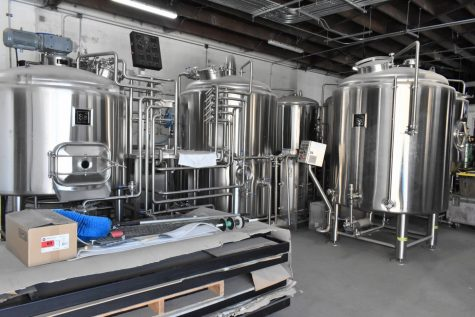 Since receiving their permits, the co-owners of La Jara Brewing Company have moved their brewing machines into their building. They plan to open their bar and brewery later in 2021.