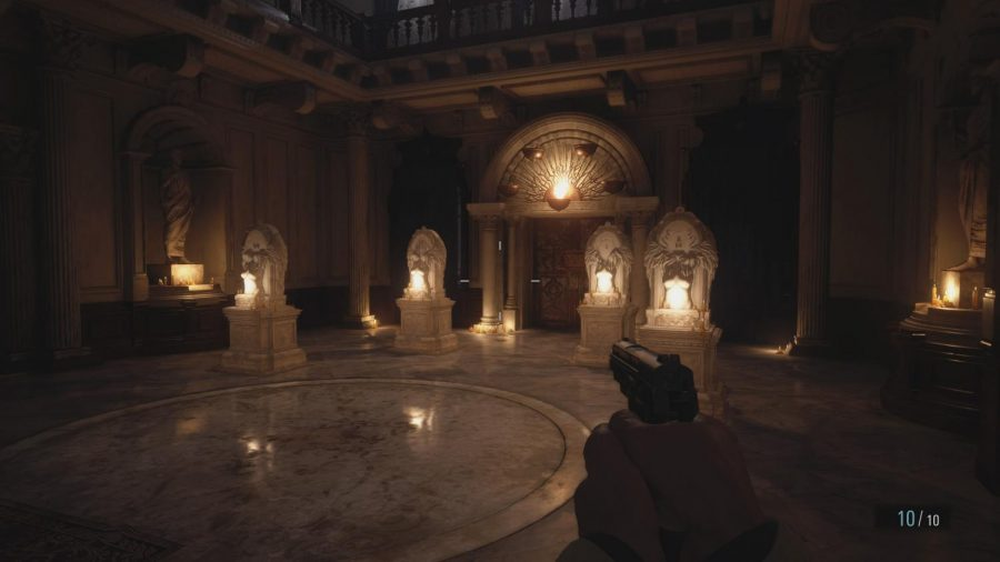 Players are able to explore parts of the castle that were previously unavailable in the MAIDEN demo. Pictured above is a puzzle that is actually unsolvable in the demo, but is sure to be a challenge in the full release. Photo credit: Capcom Unity/Capcom, Co., Ltd.