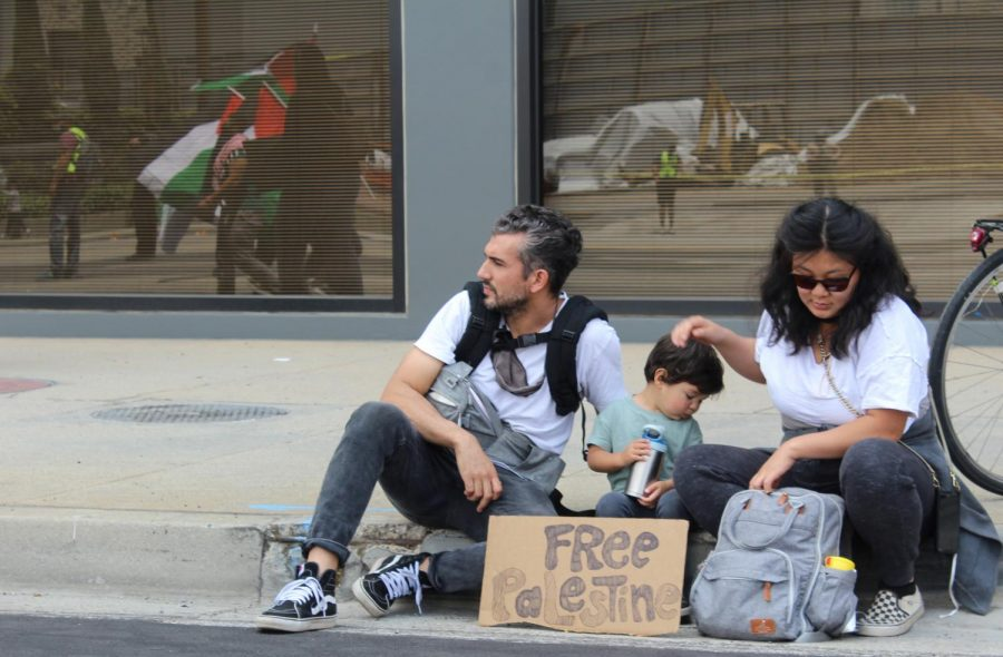 The protest/rally organizers welcomed families as many children joined their parents to protest in support of Palestinians. Of the more than 200 people that have died in recent violence in Israel-Gaza, at least 61 have been children. May 15, 2021