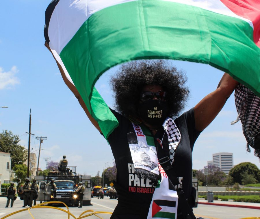 Charlotte Williams, 54, protested in support of Palestinians on May 15 explaining that Palestine supported South Africa during an Apartheid rule. Williams expressed anger with President Joe Bidens refusal to condemn Israels recent attacks on Palestinian cities.