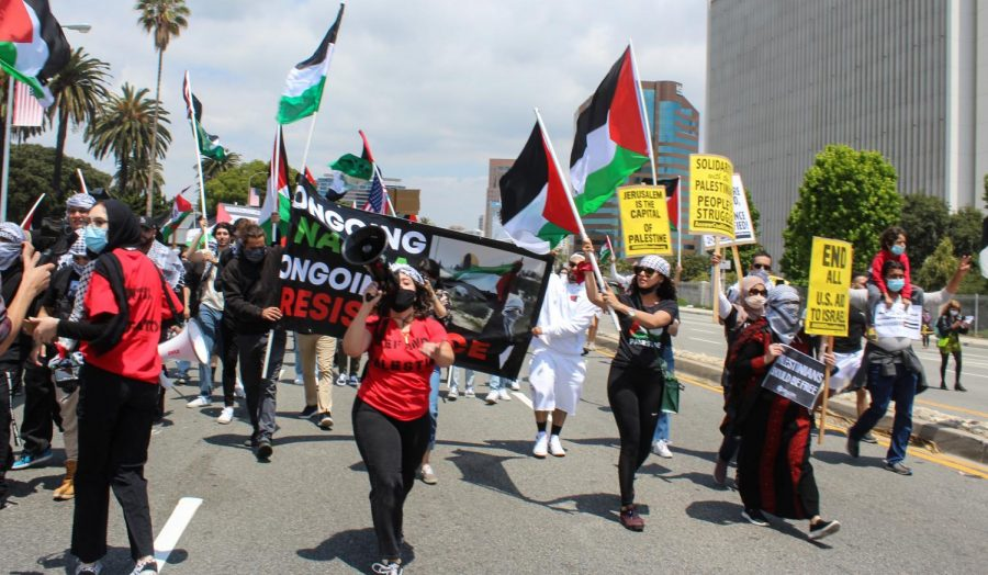The protest on May 15 rallied for 73 years of resistance of Nakba. Palestinians refer Al Nakba, or The Catastrophe, to the mass exodus of at least 750,000 Arabs from Palestine.