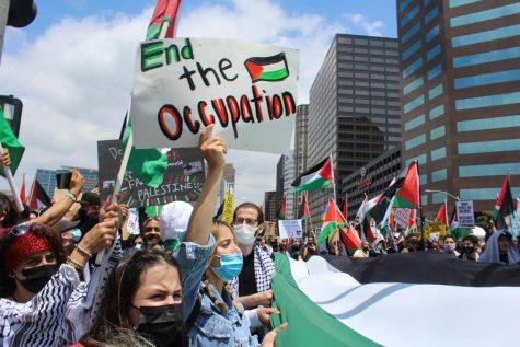 On May 15, protestors rallied and demanded peace and justice for Palestinians. Many believe Palestine should be freed and recognized as a State.