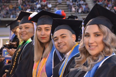 Cerritos College past graduation ceremonies have always been well attended.  Students look forward to marking the achievements with a ceremony.