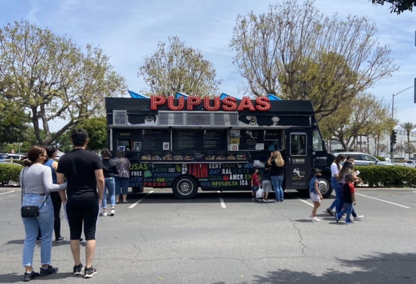 VCHOS Pupuseria Moderna visits Stonewood Center in Downey on May 1, 2021. The popular food truck has over 100,000 followers on Instagram.