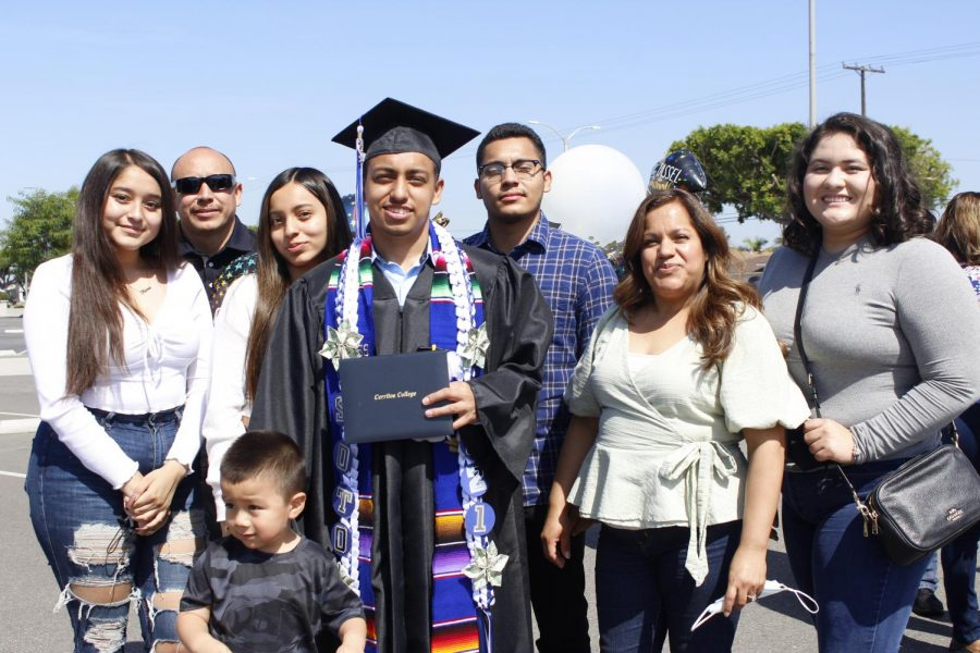 Auto tech major Greg Soto was joined by his family. Soto plans to use his degree to advance in his career.