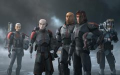 (L-R): Crosshairs, Echo, Wrecker, Hunter and Tech in a scene from