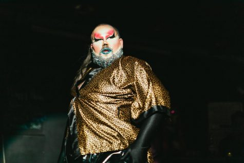 Nick Holmes goes by Maia P. Sparkles when performing drag on stage. Holmes has been living in South Korea for 10 years and started doing drag in 2017. Photo credit: Photo Credit: Robert Michael Evans