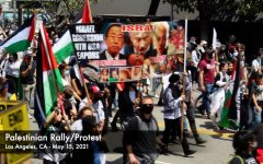 The Palestinian Rally/Protest on May 15, 2021 began at the Wilshire Federal Building and demonstrators marched west chanting in support of Palestine. Many people believe the U.S. needs to stop funding Israel and provide more support for the Palestinians.