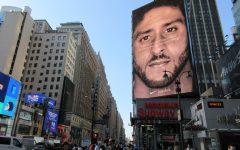 Colin Kaepernick billboard for ad campaign near Maddison Square Garden in New York. Photo credit: Brecht Bug/Flickr