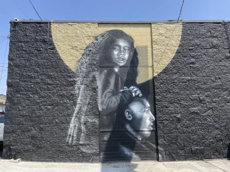 One of serval public artworks commemorating the daughter and father duo. Kobe and Gigi mural located on 1005 W Century Blvd, Los Angeles, CA 90044.