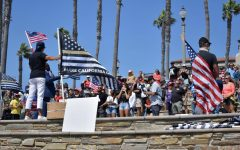 Protestors rally against Californias mask and vaccine mandates in Huntington Beach on Aug. 29, 2021. They advocated for the recall of California Governor Gavin Newsom.